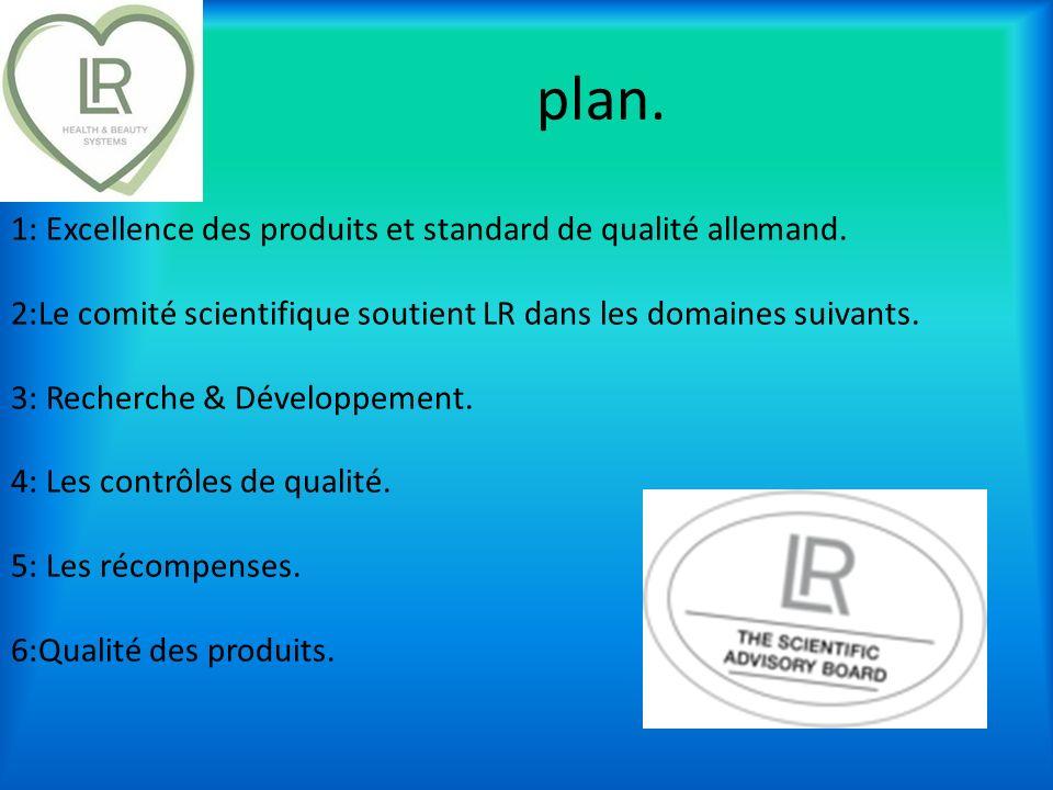 plan. 1: Excellence des produits et standard de qualité allemand.