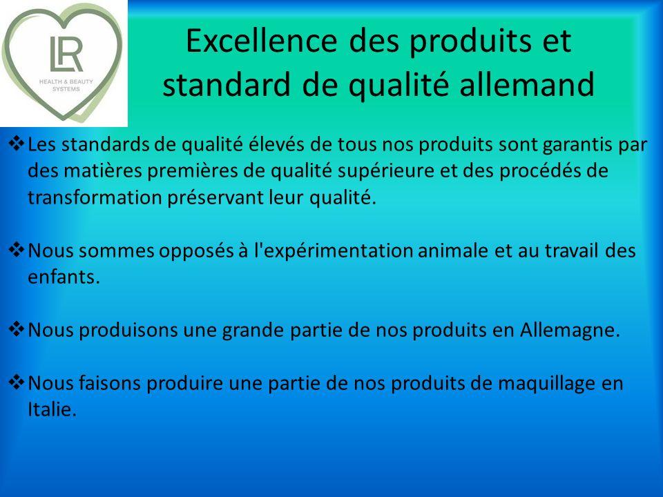 Excellence des produits et standard de qualité allemand