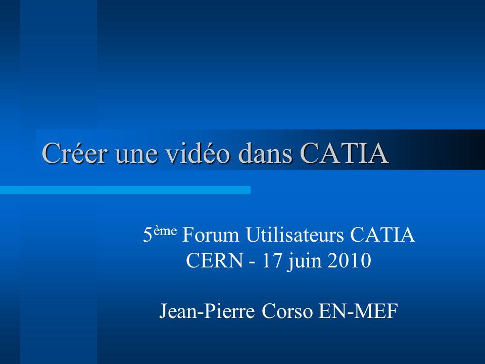 Créer une vidéo dans CATIA