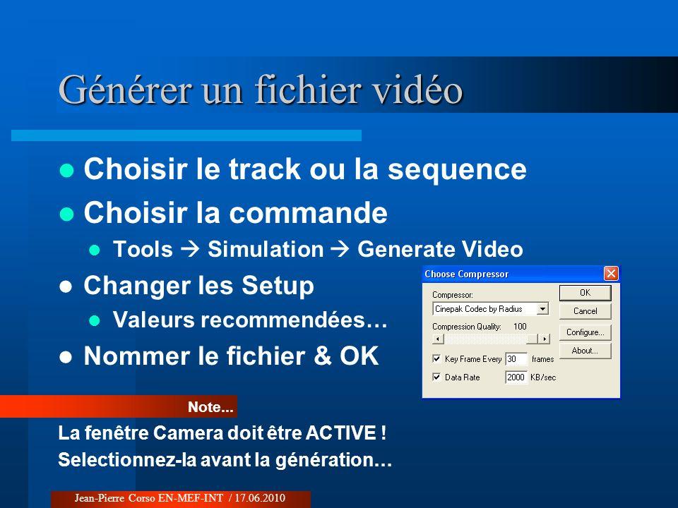 Générer un fichier vidéo