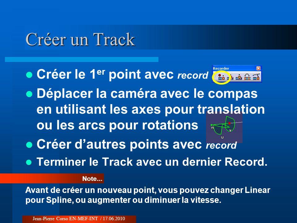 Créer un Track Créer le 1er point avec record