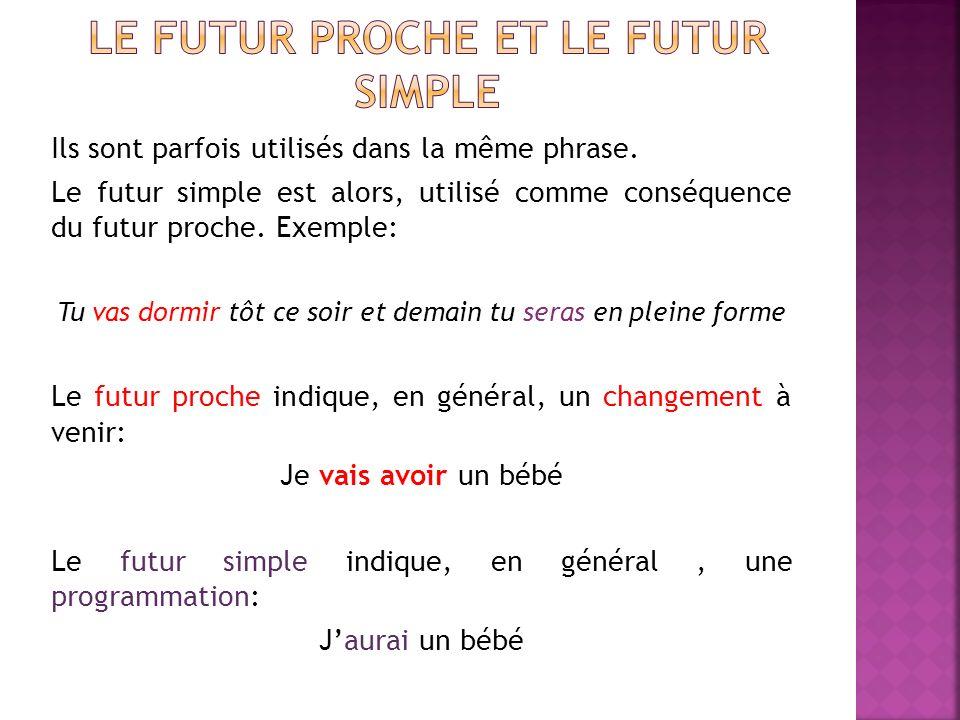 Le futur proche et le futur simple