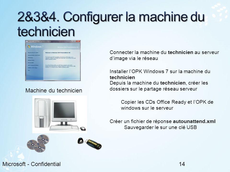 2&3&4. Configurer la machine du technicien