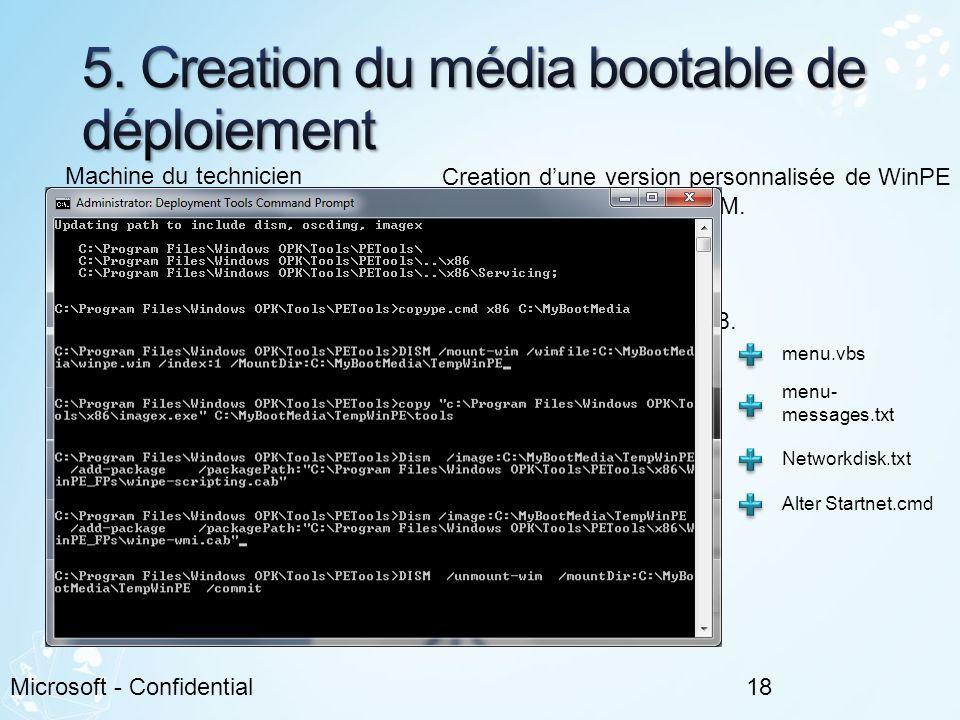 5. Creation du média bootable de déploiement