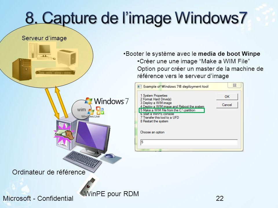8. Capture de l'image Windows7