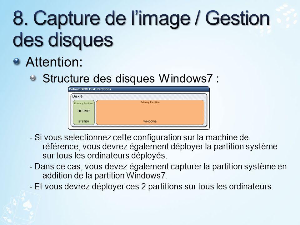 8. Capture de l'image / Gestion des disques