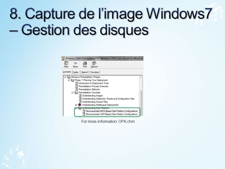 8. Capture de l'image Windows7 – Gestion des disques