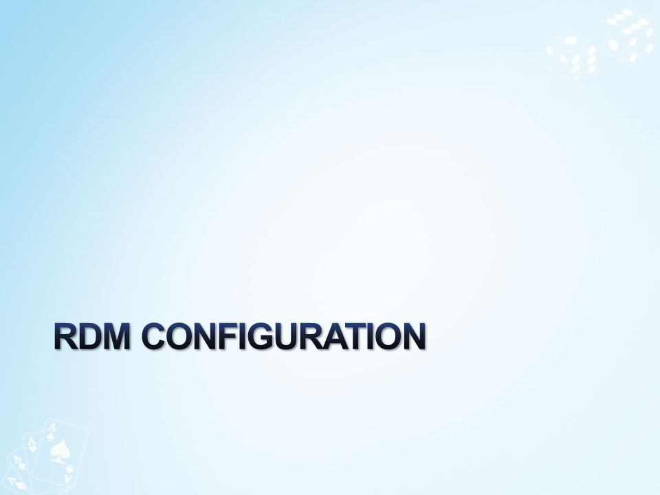 RDM ConFiguration