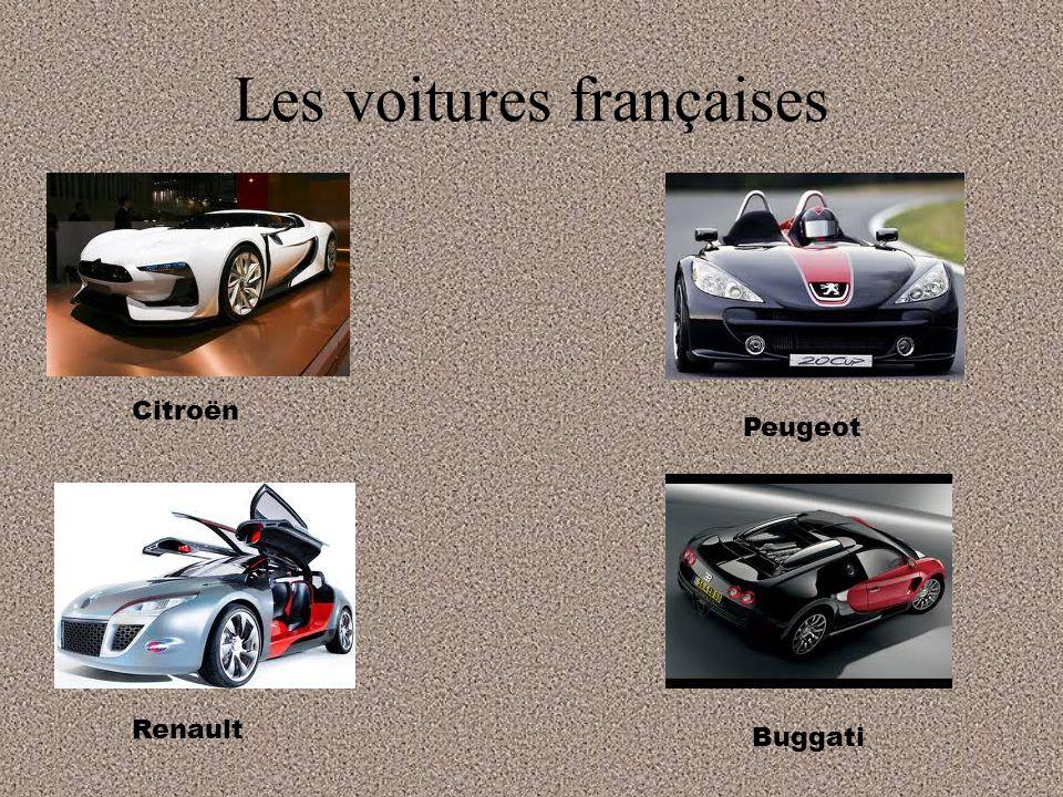 Les voitures françaises