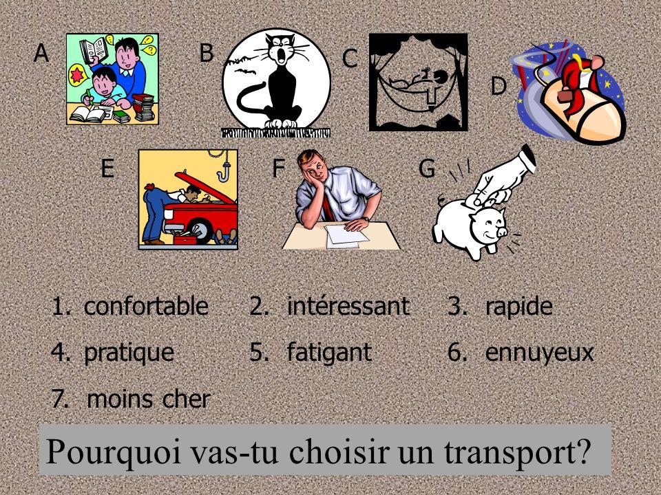Pourquoi vas-tu choisir un transport
