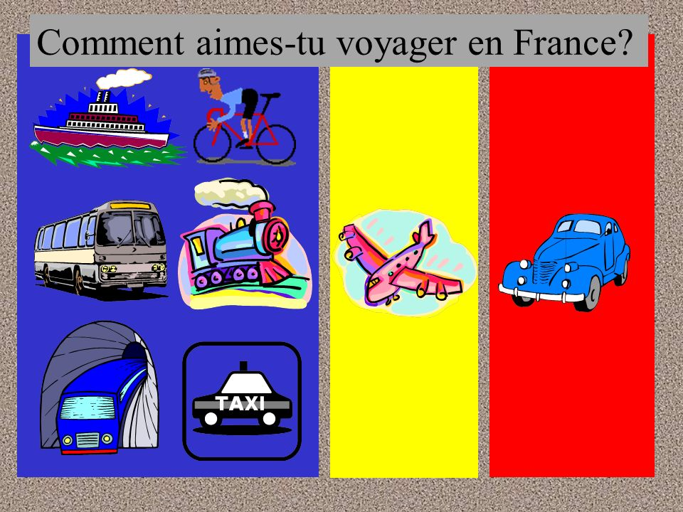 Comment aimes-tu voyager en France