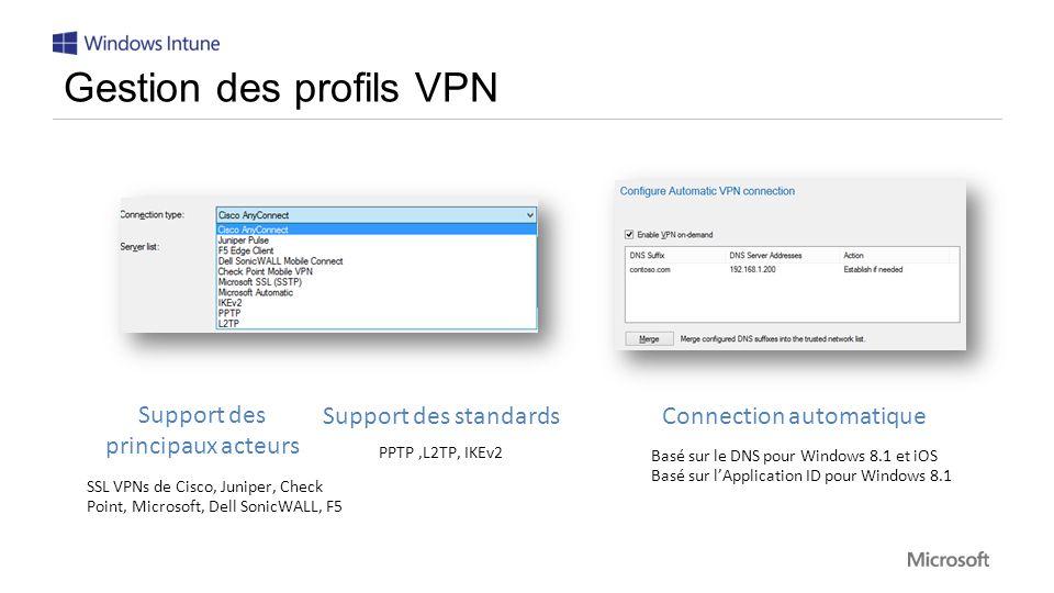 Gestion des profils VPN