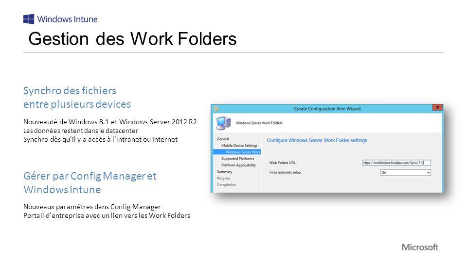Gestion des Work Folders