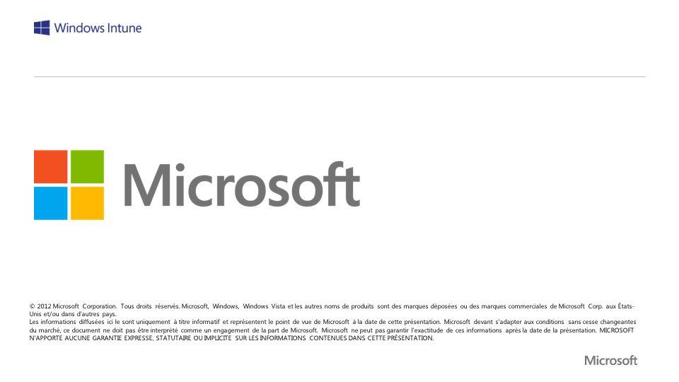 © 2012 Microsoft Corporation. Tous droits réservés