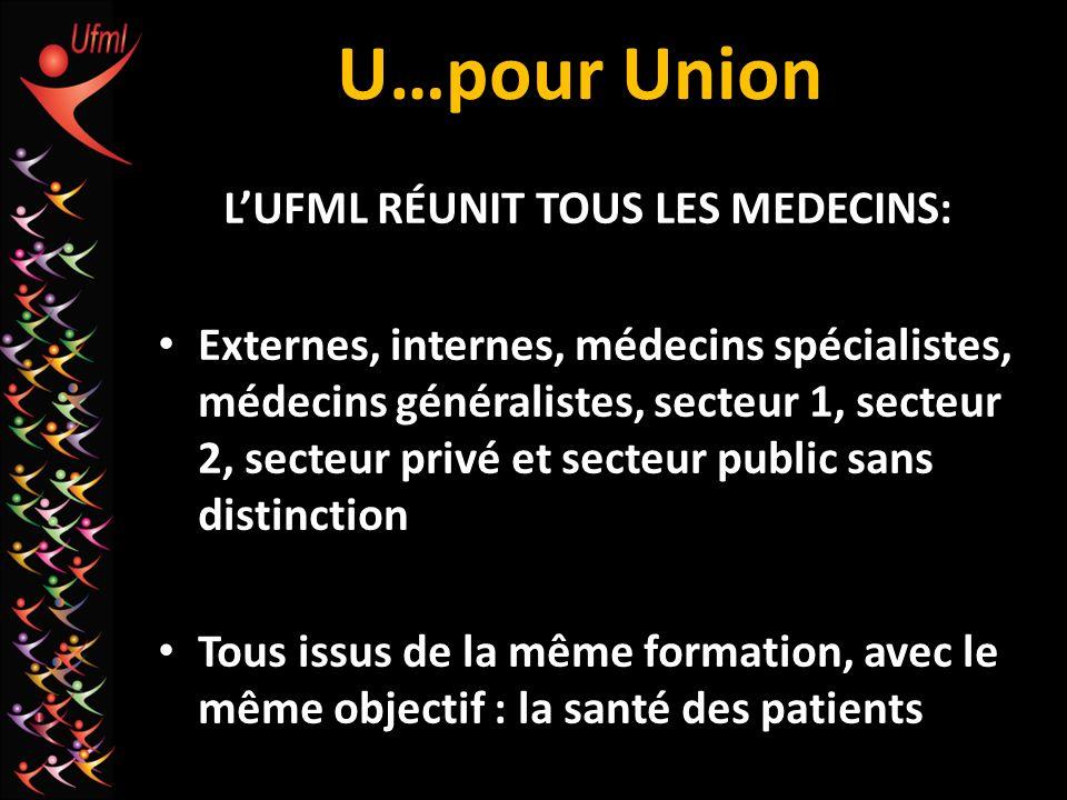 L'UFML RÉUNIT TOUS LES MEDECINS: