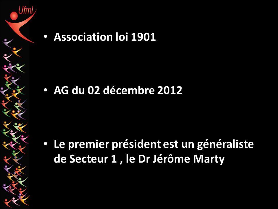Association loi 1901 AG du 02 décembre 2012.