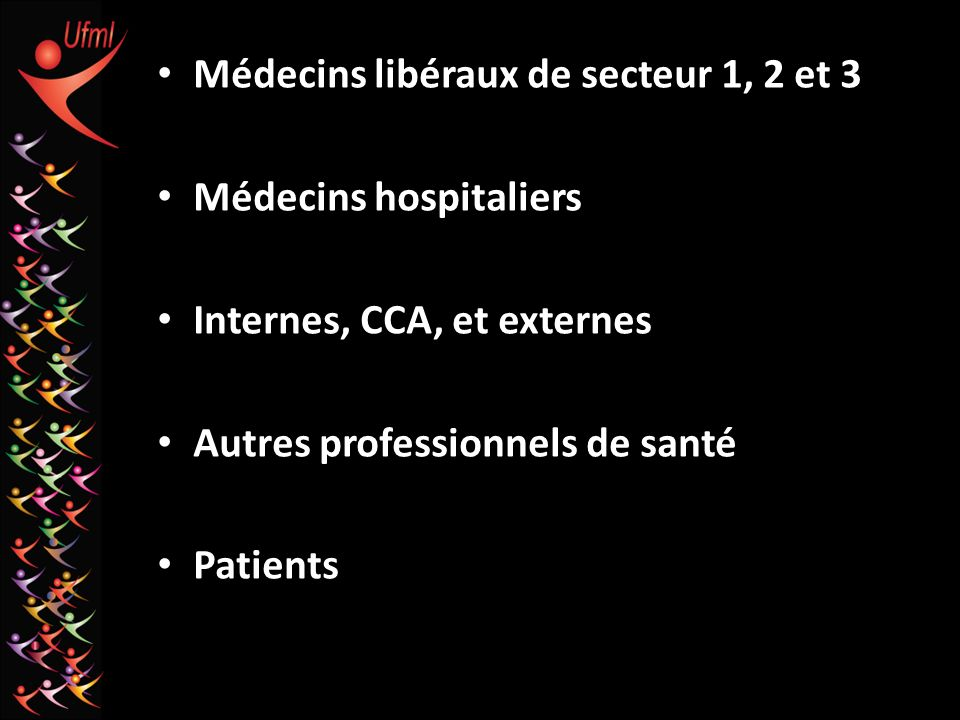 Médecins libéraux de secteur 1, 2 et 3