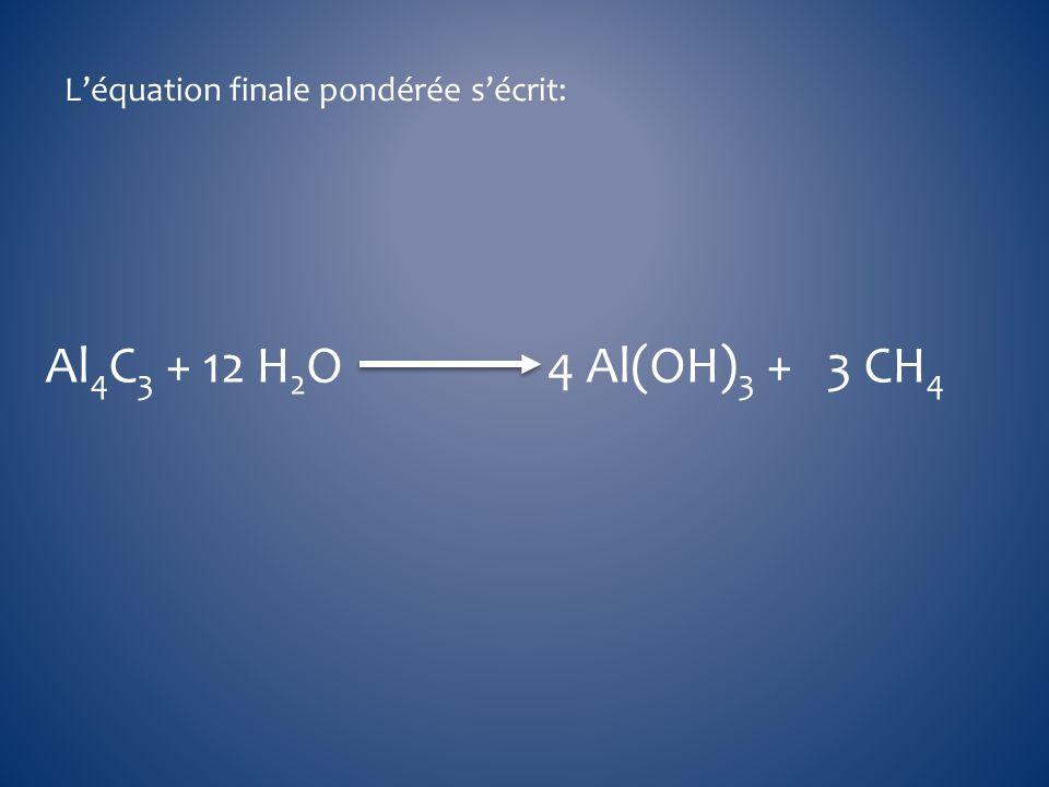 L'équation finale pondérée s'écrit: