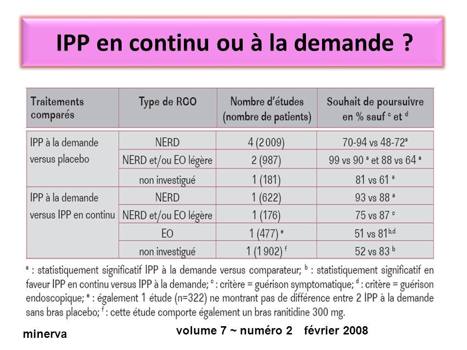 IPP en continu ou à la demande