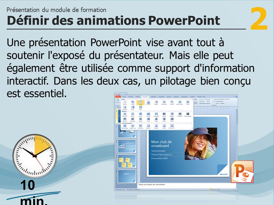Définir des animations PowerPoint