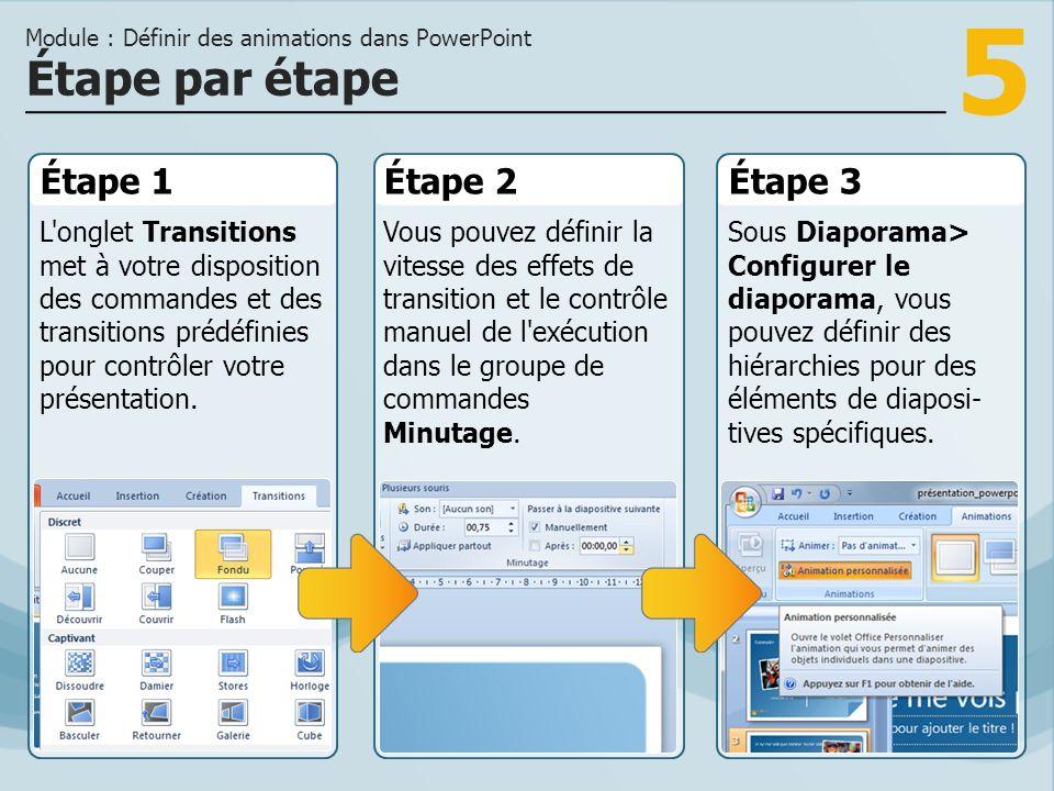 Module : Définir des animations dans PowerPoint