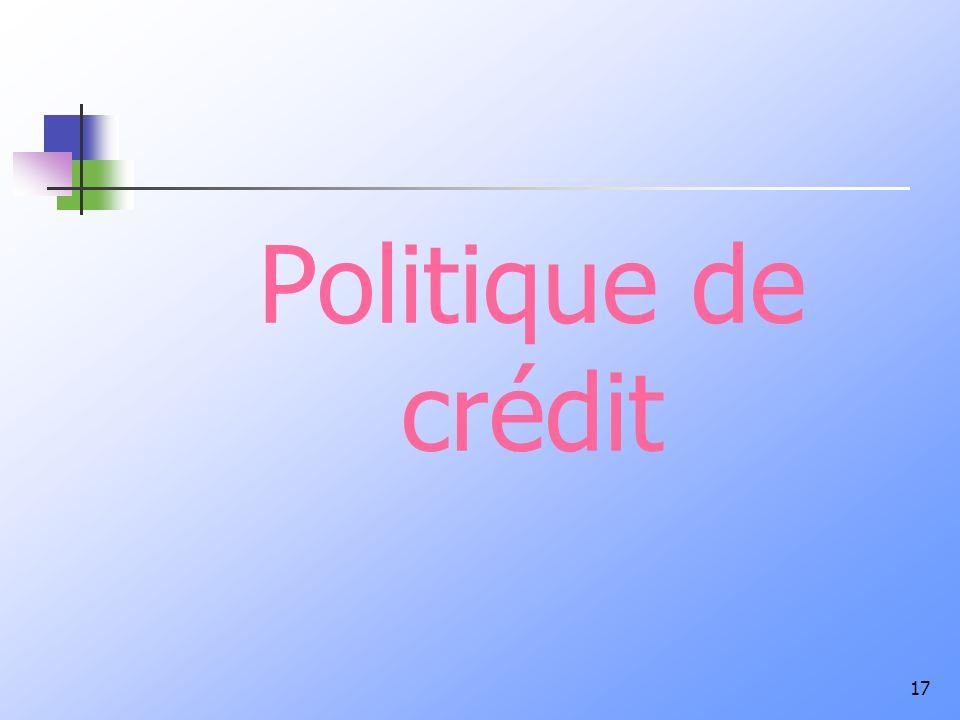 Politique de crédit