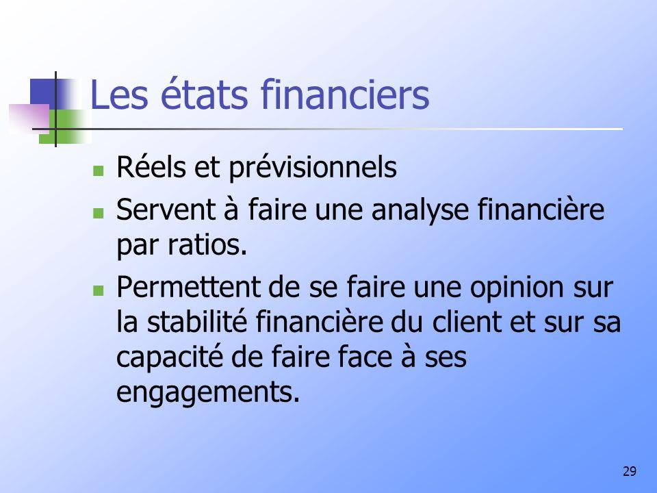 Les états financiers Réels et prévisionnels