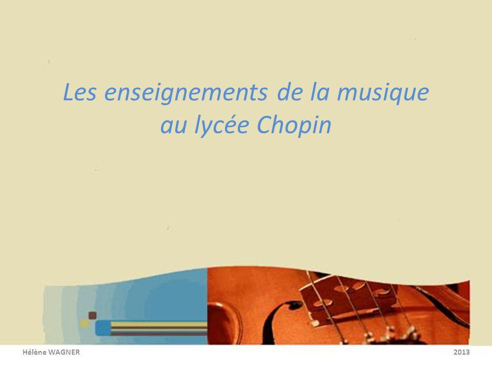 Les enseignements de la musique