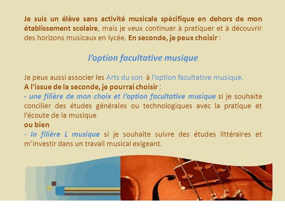 l'option facultative musique