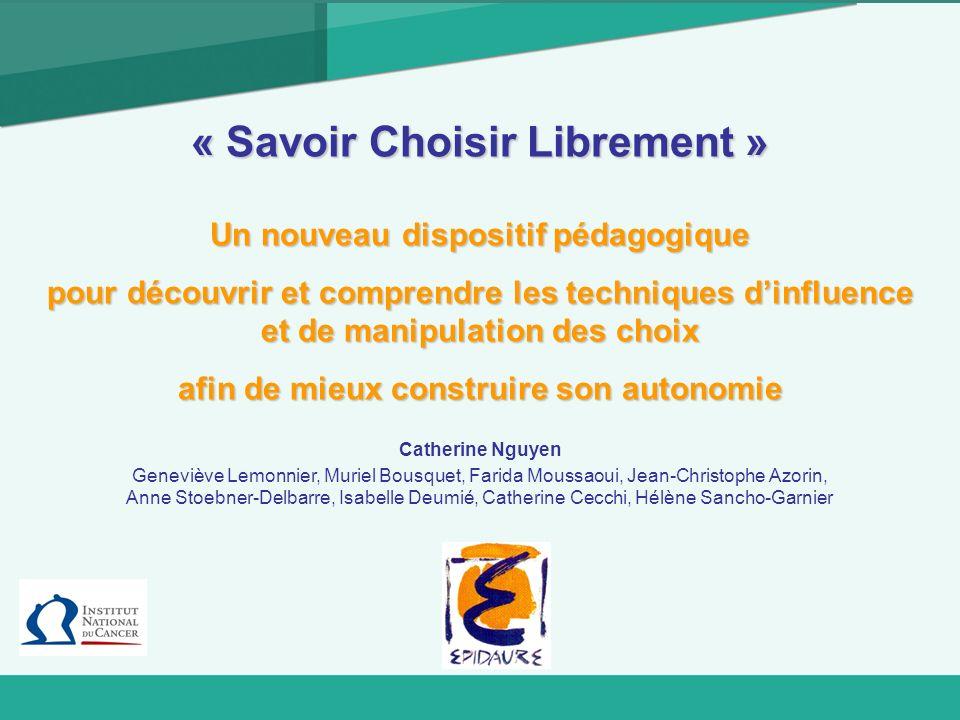 « Savoir Choisir Librement »