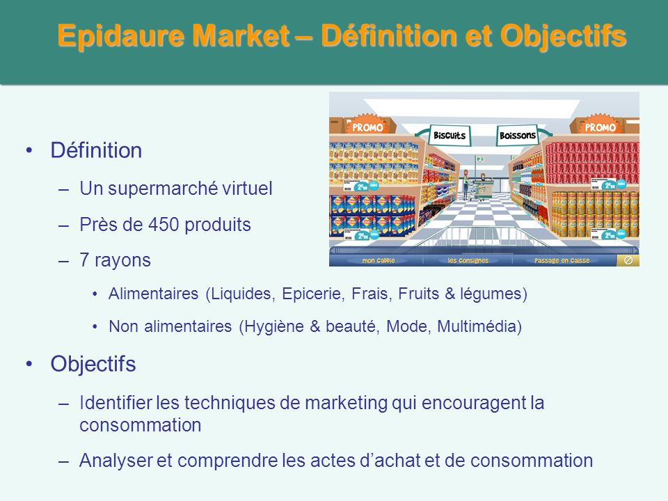 Epidaure Market – Définition et Objectifs