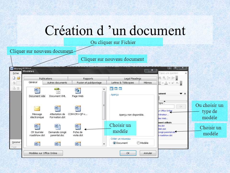 Création d 'un document