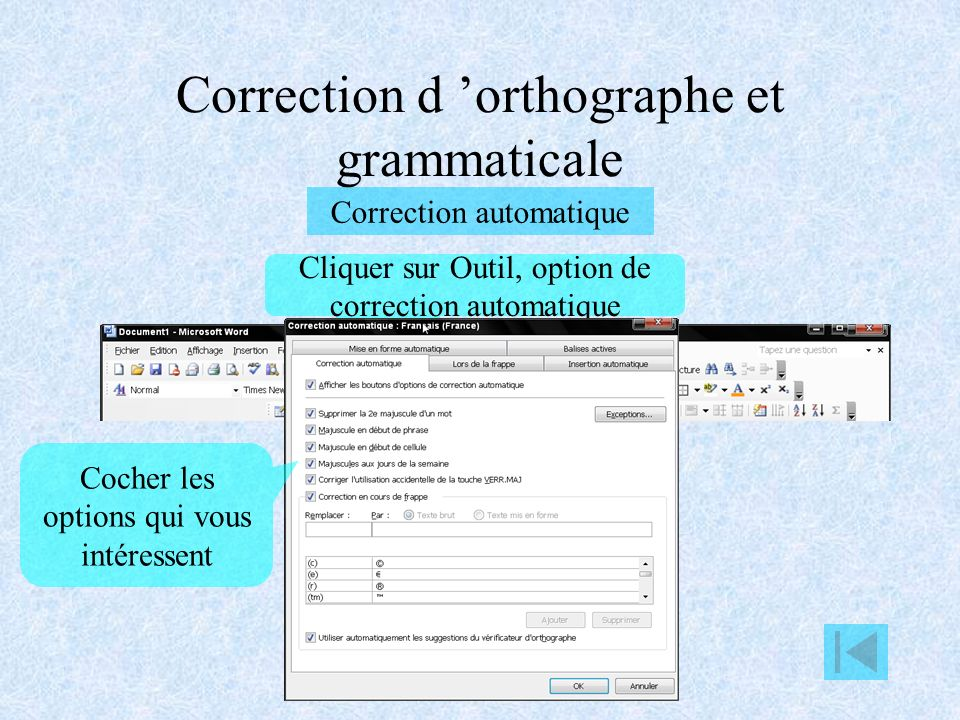 Correction d 'orthographe et grammaticale