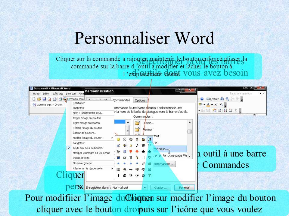 Personnaliser Word