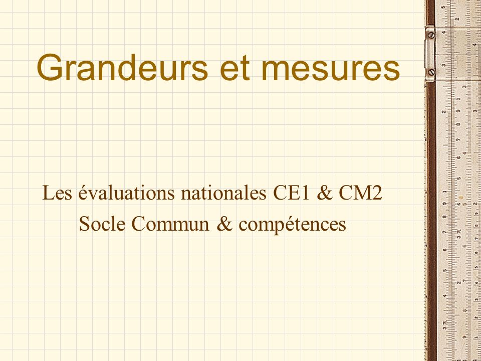Les évaluations nationales CE1 & CM2 Socle Commun & compétences