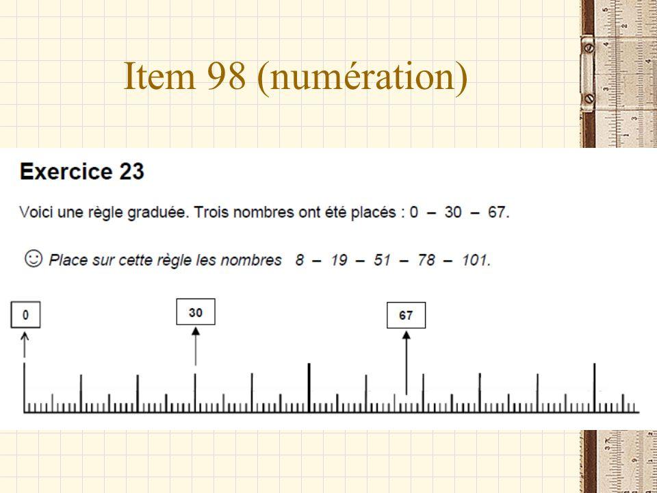 Item 98 (numération)