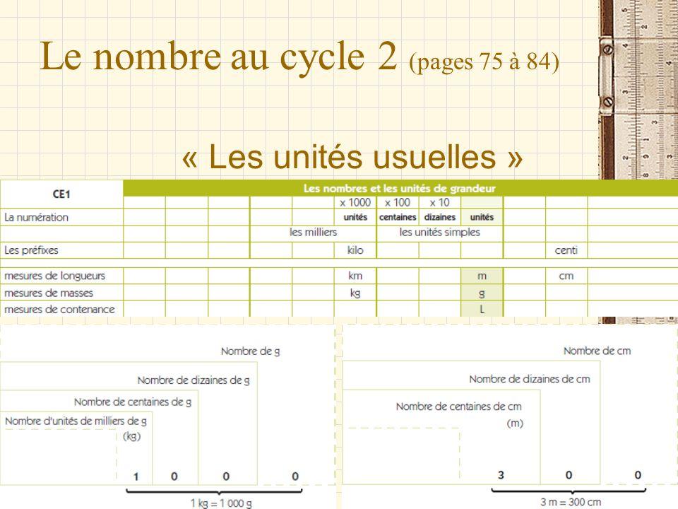 Le nombre au cycle 2 (pages 75 à 84)