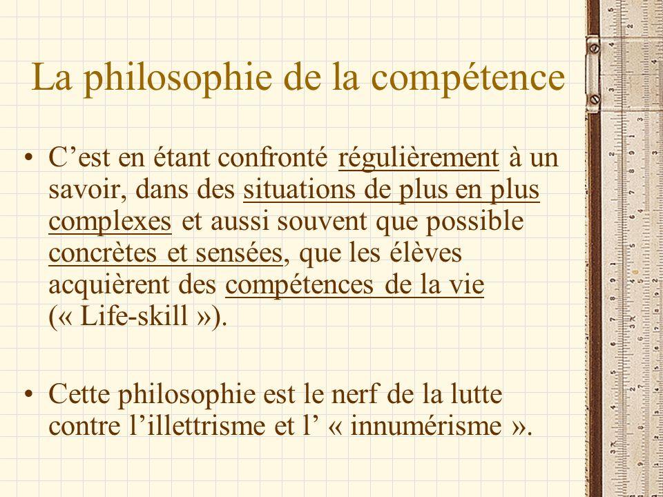 La philosophie de la compétence