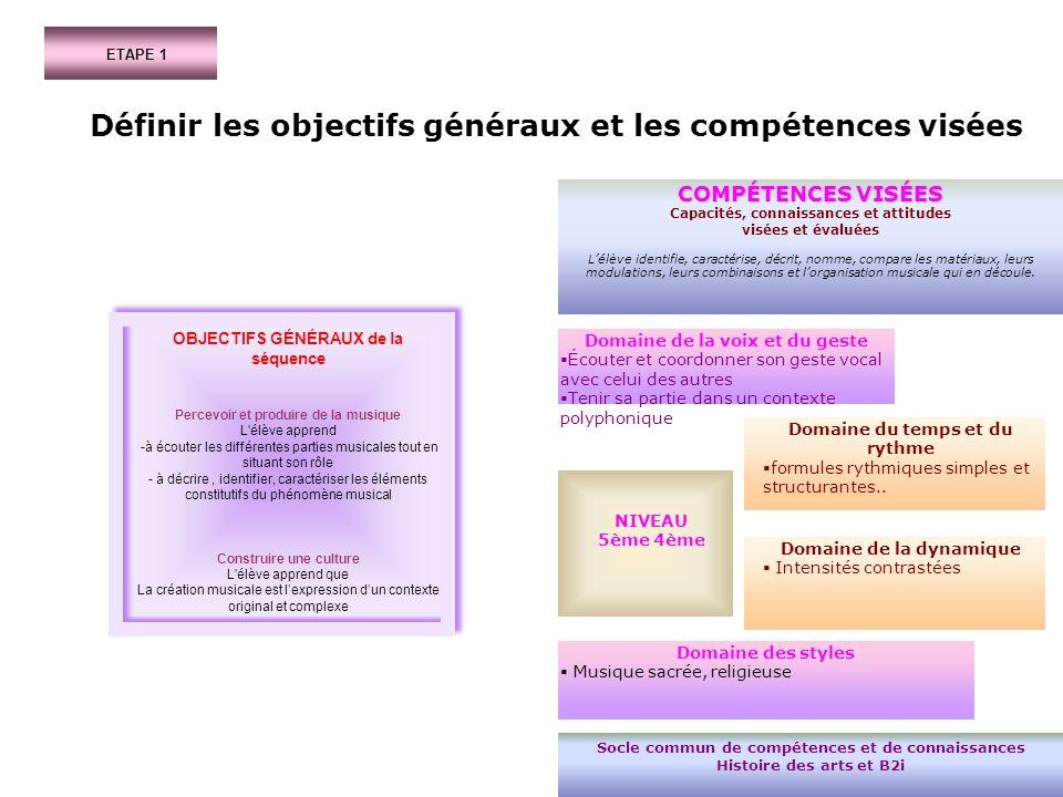 Définir les objectifs généraux et les compétences visées