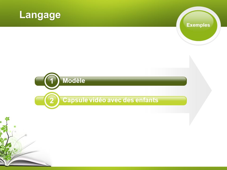 1 2 Langage Exemples Modèle Capsule vidéo avec des enfants