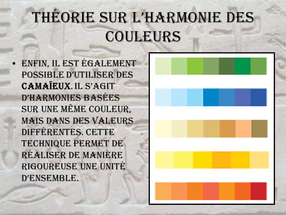 Théorie sur l'harmonie des couleurs
