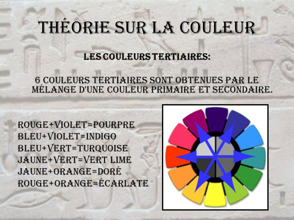 Les couleurs tertiaires: