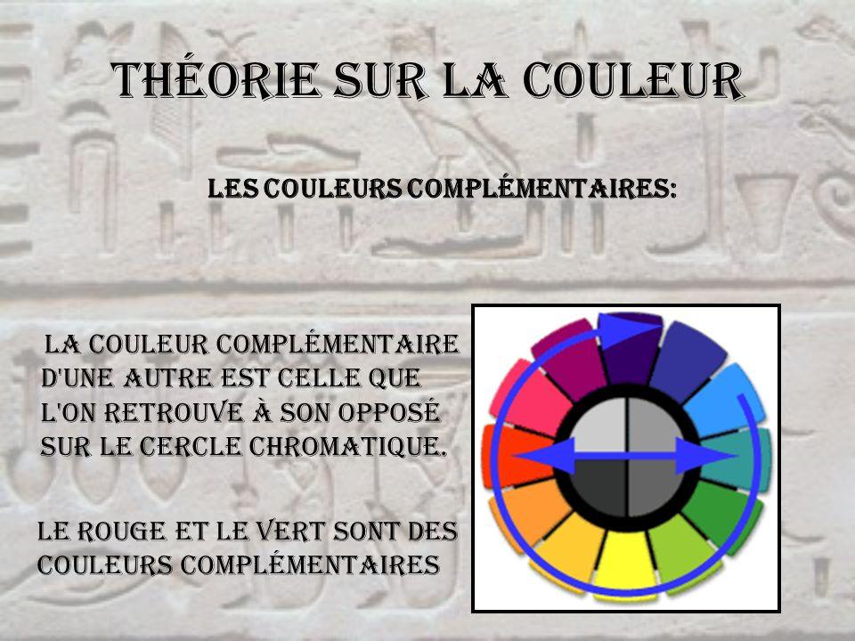 Théorie sur la couleur Les couleurs complémentaires: