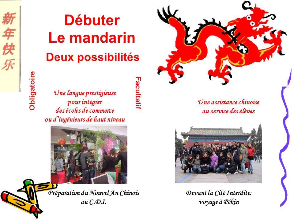 Débuter Le mandarin Deux possibilités Obligatoire Facultatif