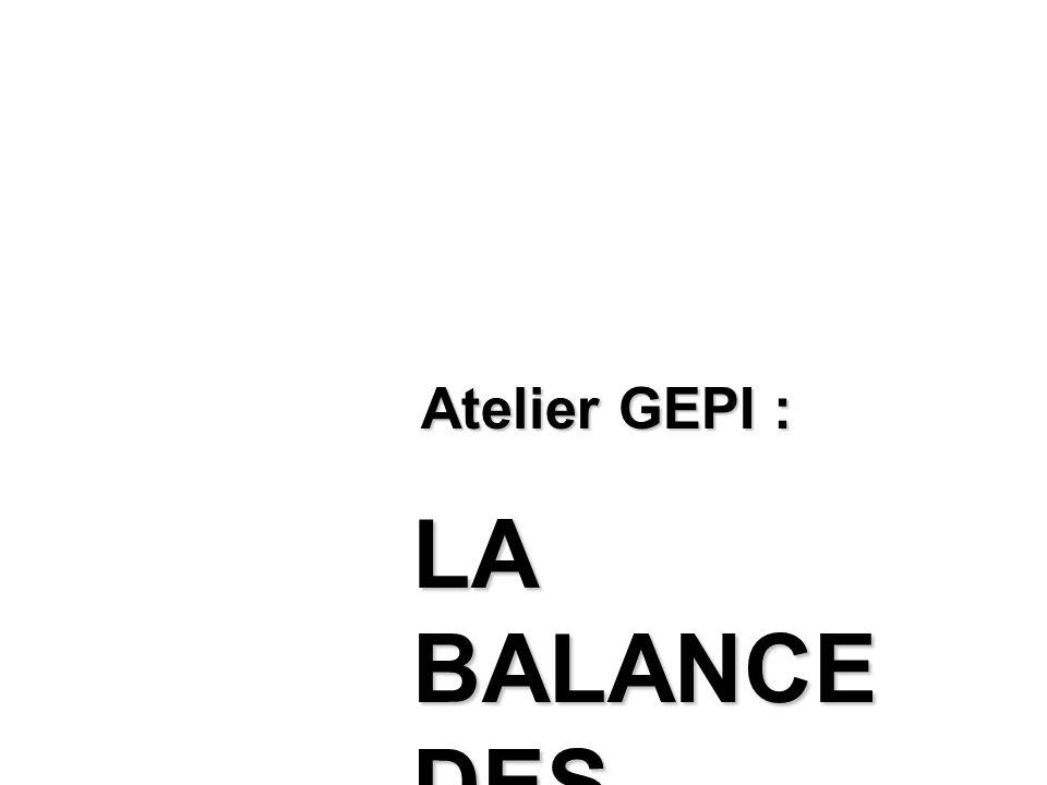 Atelier GEPI : LA BALANCE DES BLANCS