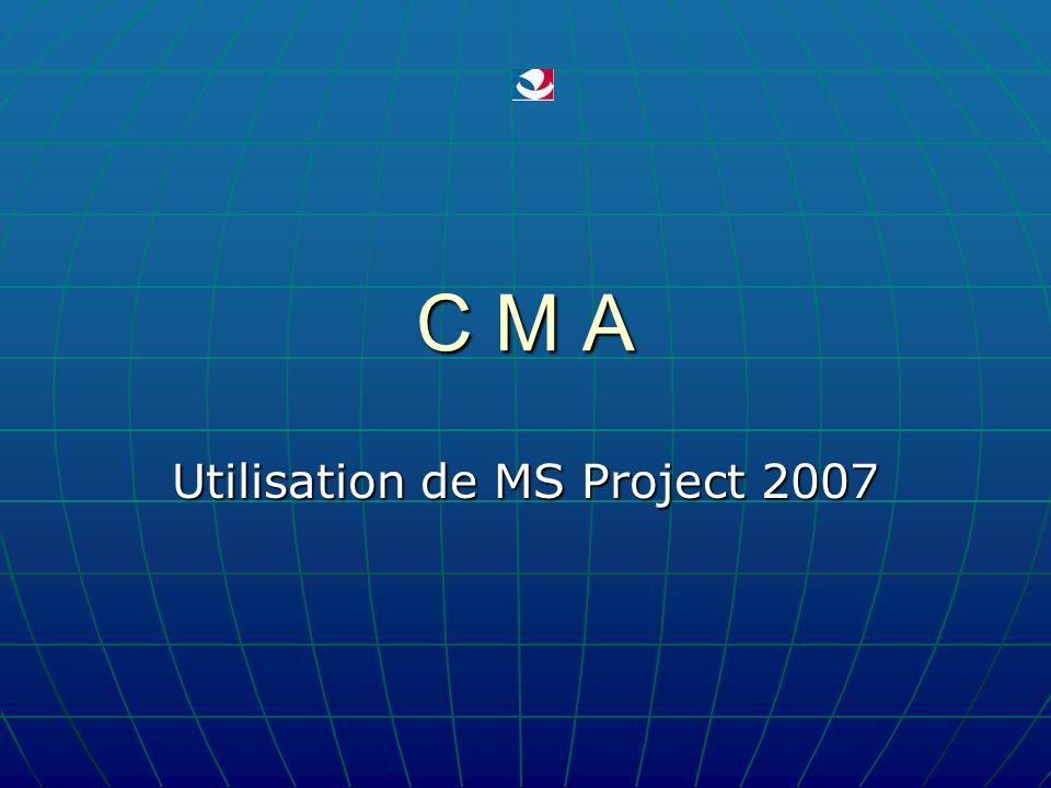 Utilisation de MS Project 2007