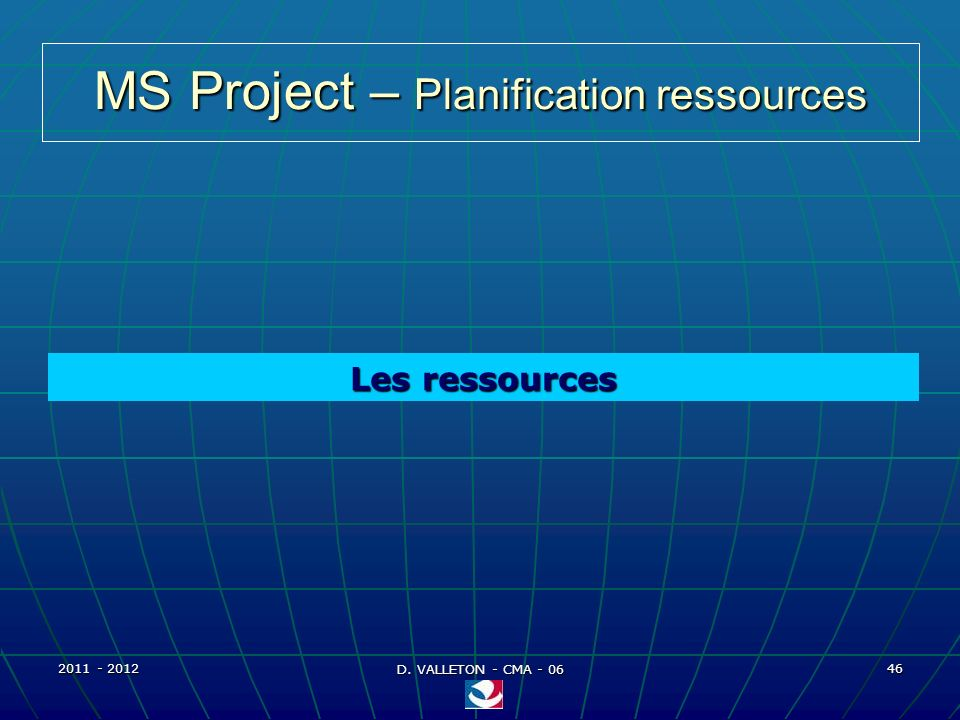 MS Project – Planification ressources