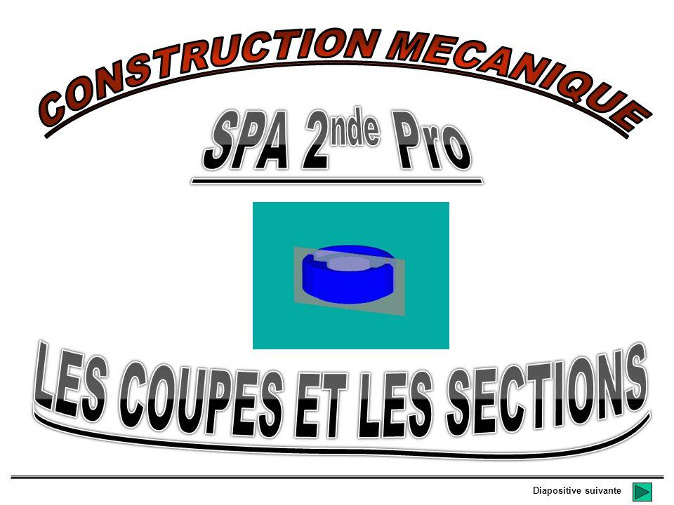 CONSTRUCTION MECANIQUE LES COUPES ET LES SECTIONS