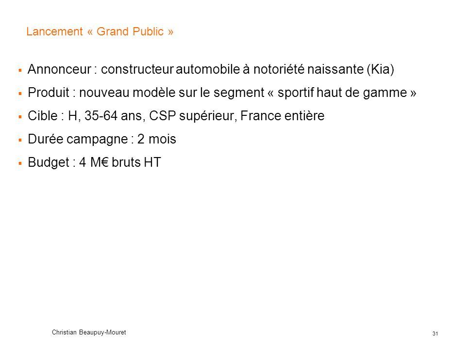 Lancement « Grand Public »