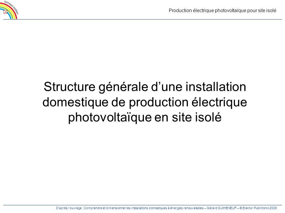 Production électrique photovoltaïque pour site isolé